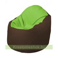 Кресло-мешок Браво Б1.3-T19Т26 (салатовый-коричневый)