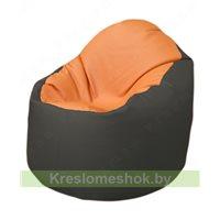Кресло-мешок Браво Б1.3-T20Т17 (оранжевый, тёмно-серый)