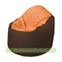 Кресло-мешок Браво Б1.3-T20Т26 (оранжевый - коричневый)
