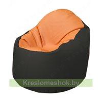 Кресло-мешок Браво Б1.3-T20Т38 (оранжевый - чёрный)