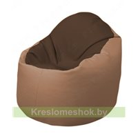 Кресло-мешок Браво Б1.3-T26Т06 (коричневый - бежевый)