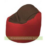 Кресло-мешок Браво Б1.3-T26Т09 (коричневый - красный)
