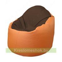 Кресло-мешок Браво Б1.3-T26Т20 (коричневый - оранжевый)