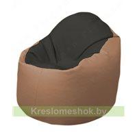 Кресло-мешок Браво Б1.3-T38Т06 (черный - бежевый)