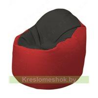 Кресло-мешок Браво Б1.3-T38Т09 (черный - красный)