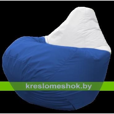 Кресло мешок Груша Арбат (основа синяя, вставка белая)