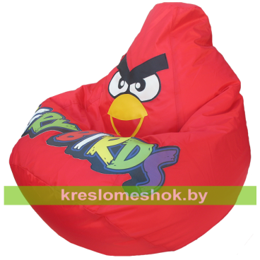 Кресло мешок Красная Птичка(цветные буквы)