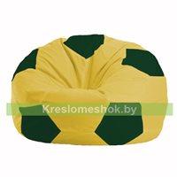 Кресло мешок Мяч жёлтый - тёмно-зелёный М 1.1-452