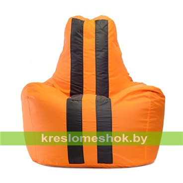 Кресло мешок Спортинг Оранж Блэк