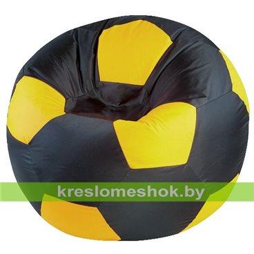 "Кресло-мешок ""Мяч Стандарт"" черно-желтый"