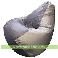 Кресло-мешок Груша Макси (серый+тёмно-серый)