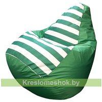 Кресло-мешок Груша Макси (зелёный+полоска)